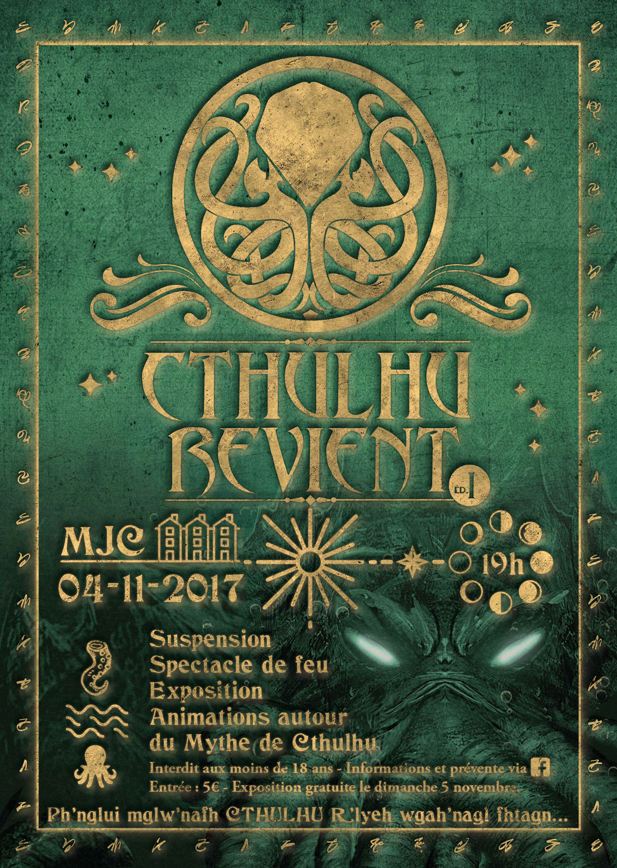 Affiche Cthulhu Revient