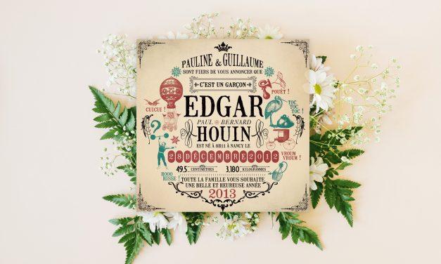 Faire-Part Edgar