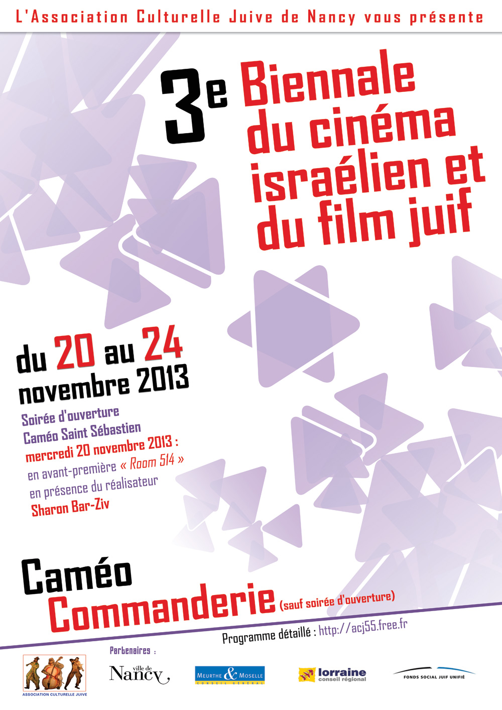 Affiche Festival du Film Israélien