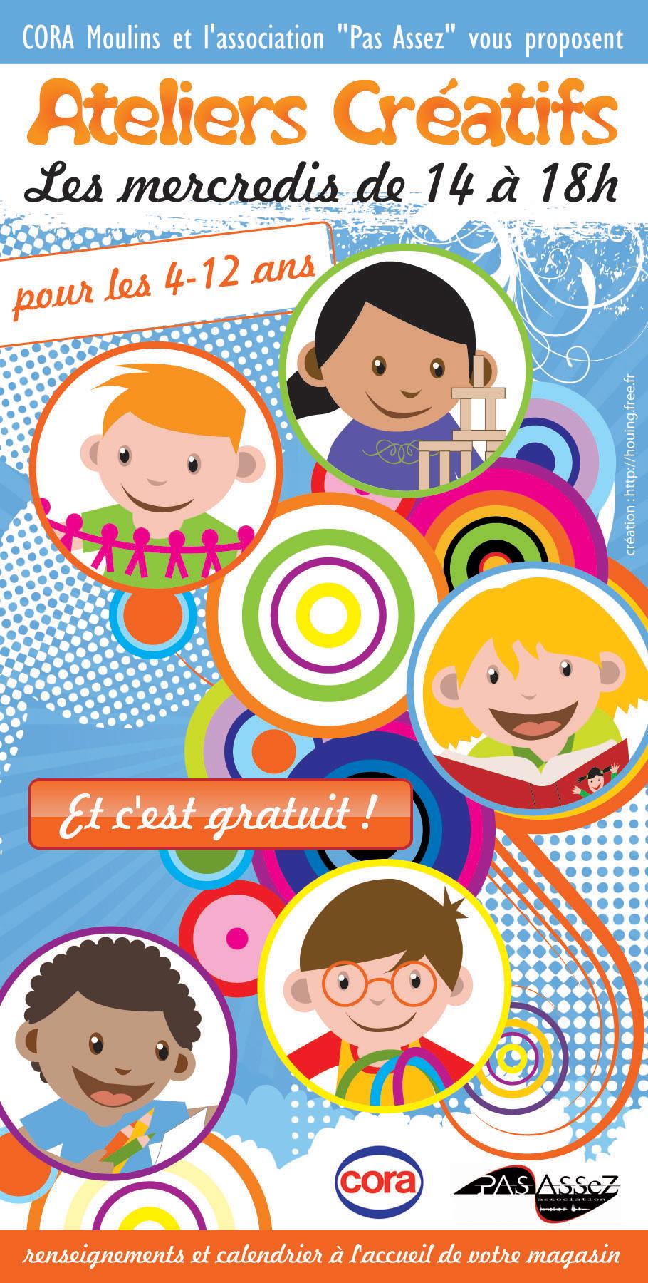 Affiche Ateliers Créatifs COra