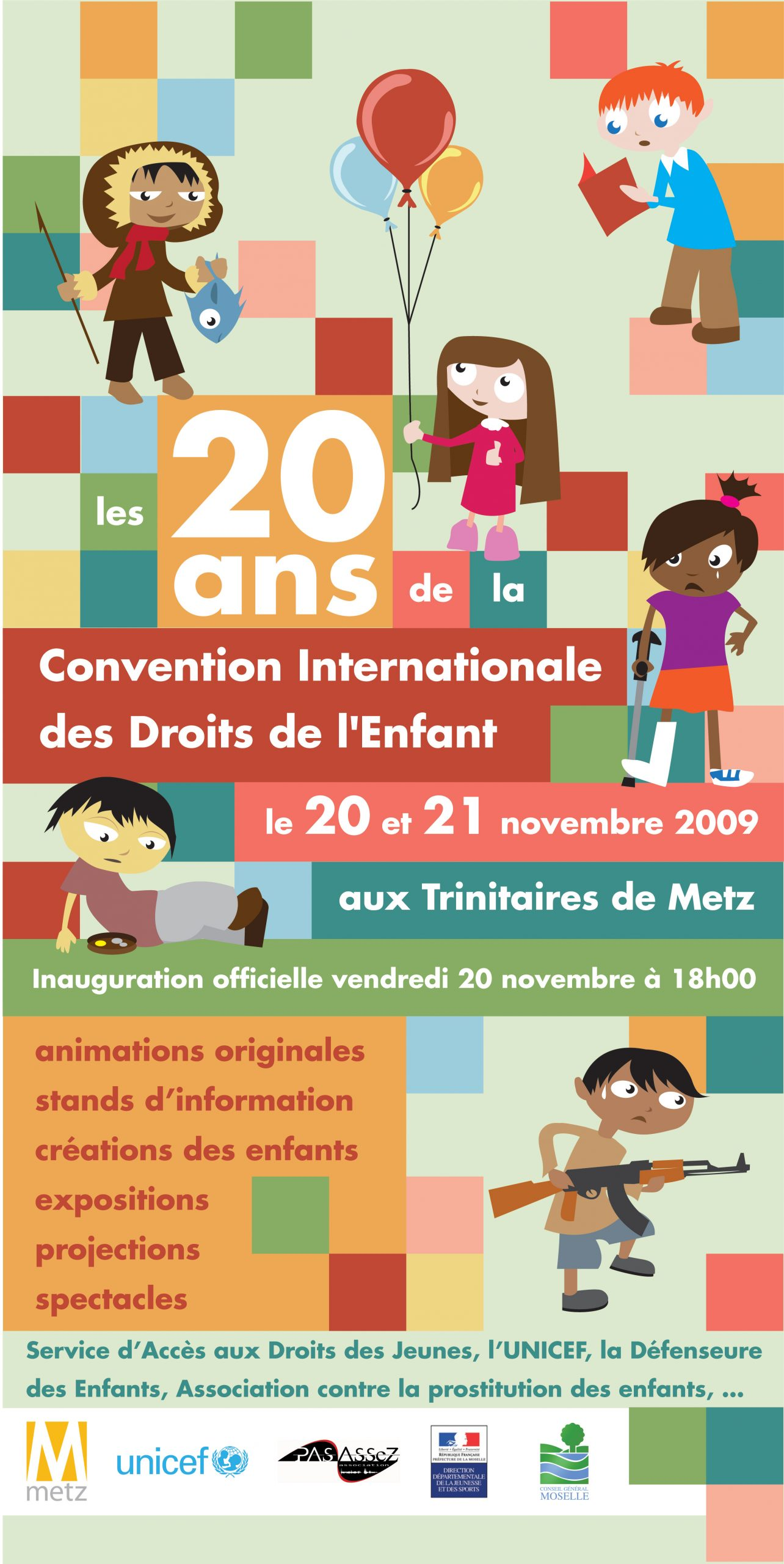 Affiche Convention Internationale des Droits de l'Enfant