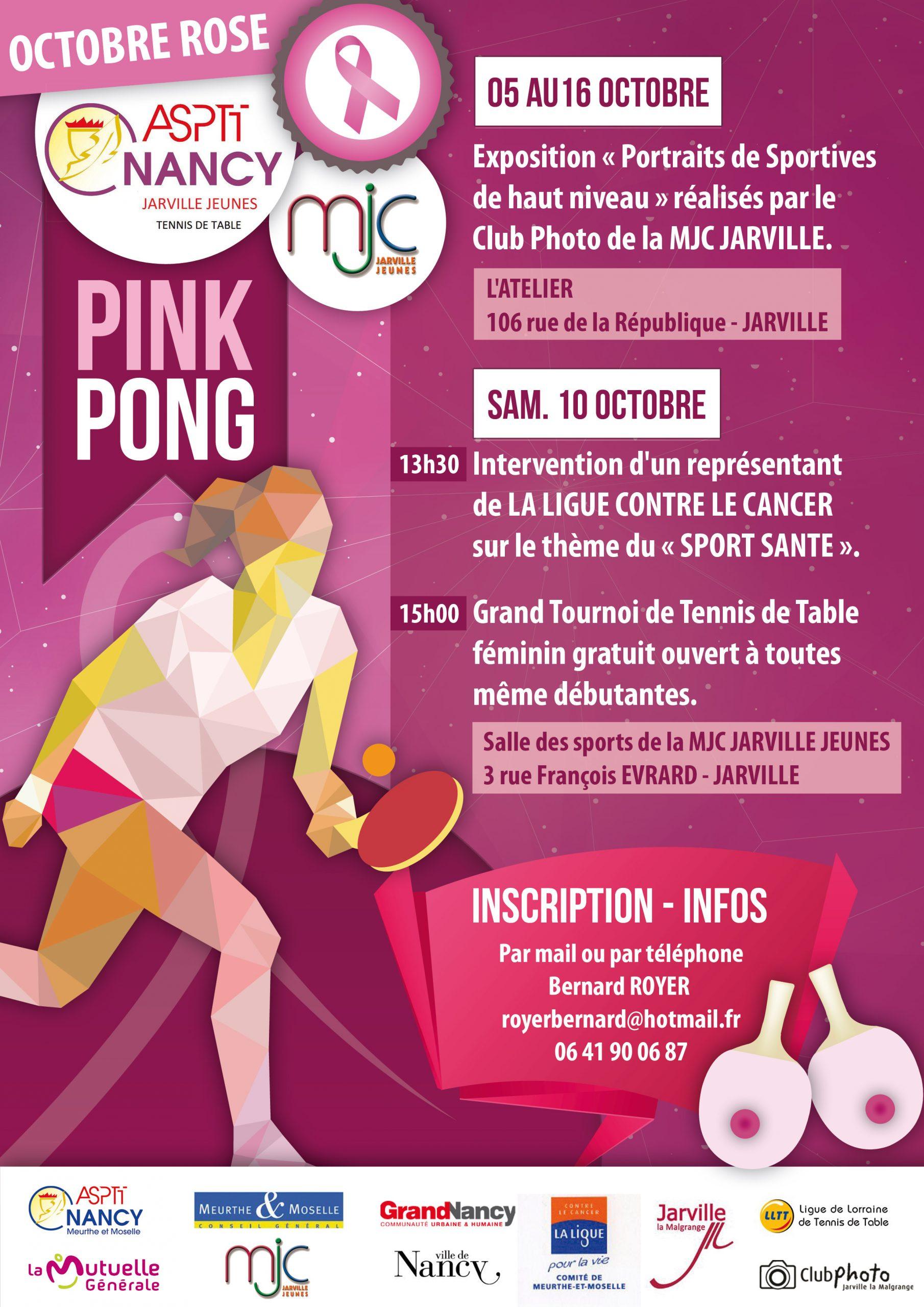Affiche Octobre Rose Pink Pong
