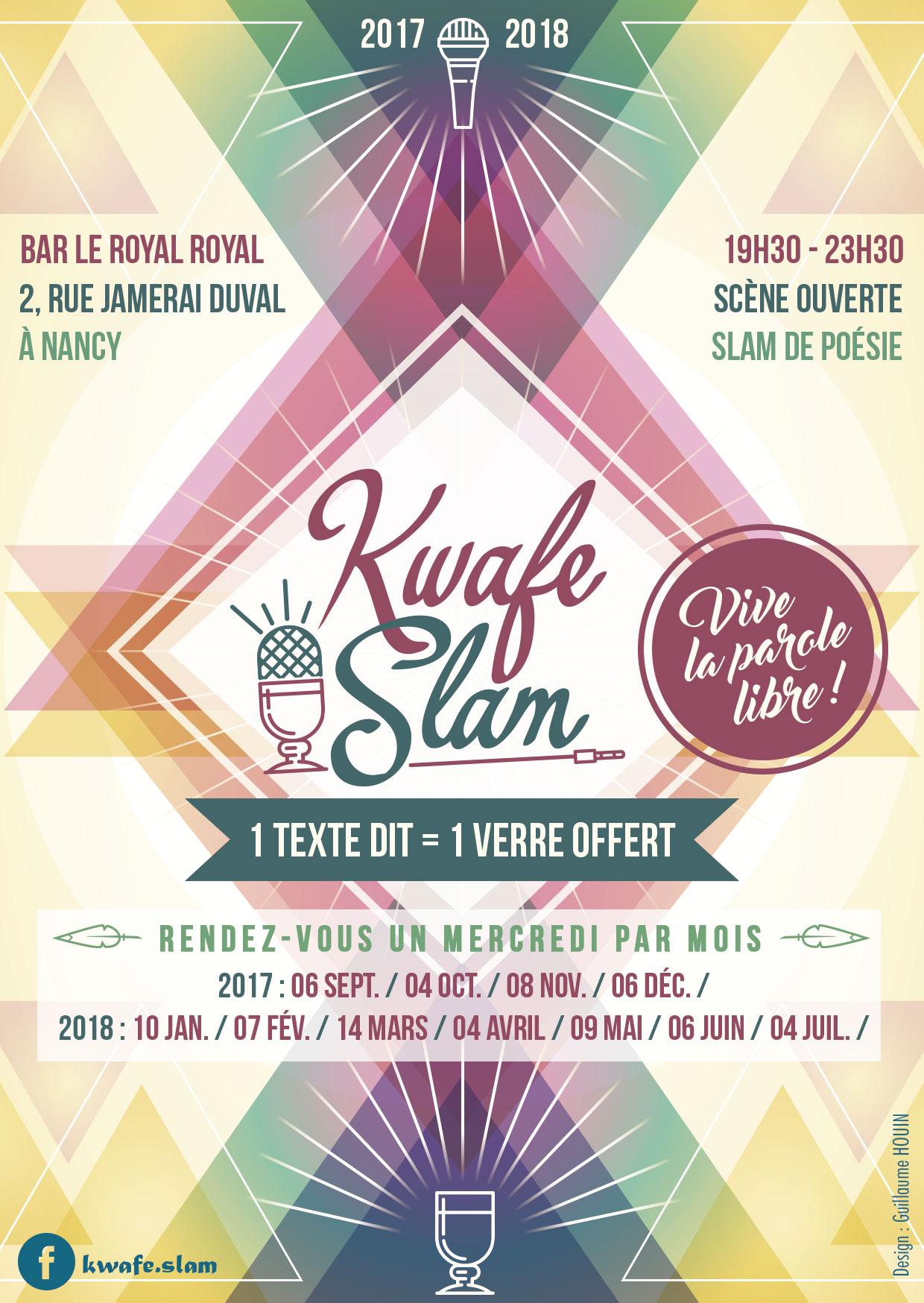 Affiche Kwafe Slam