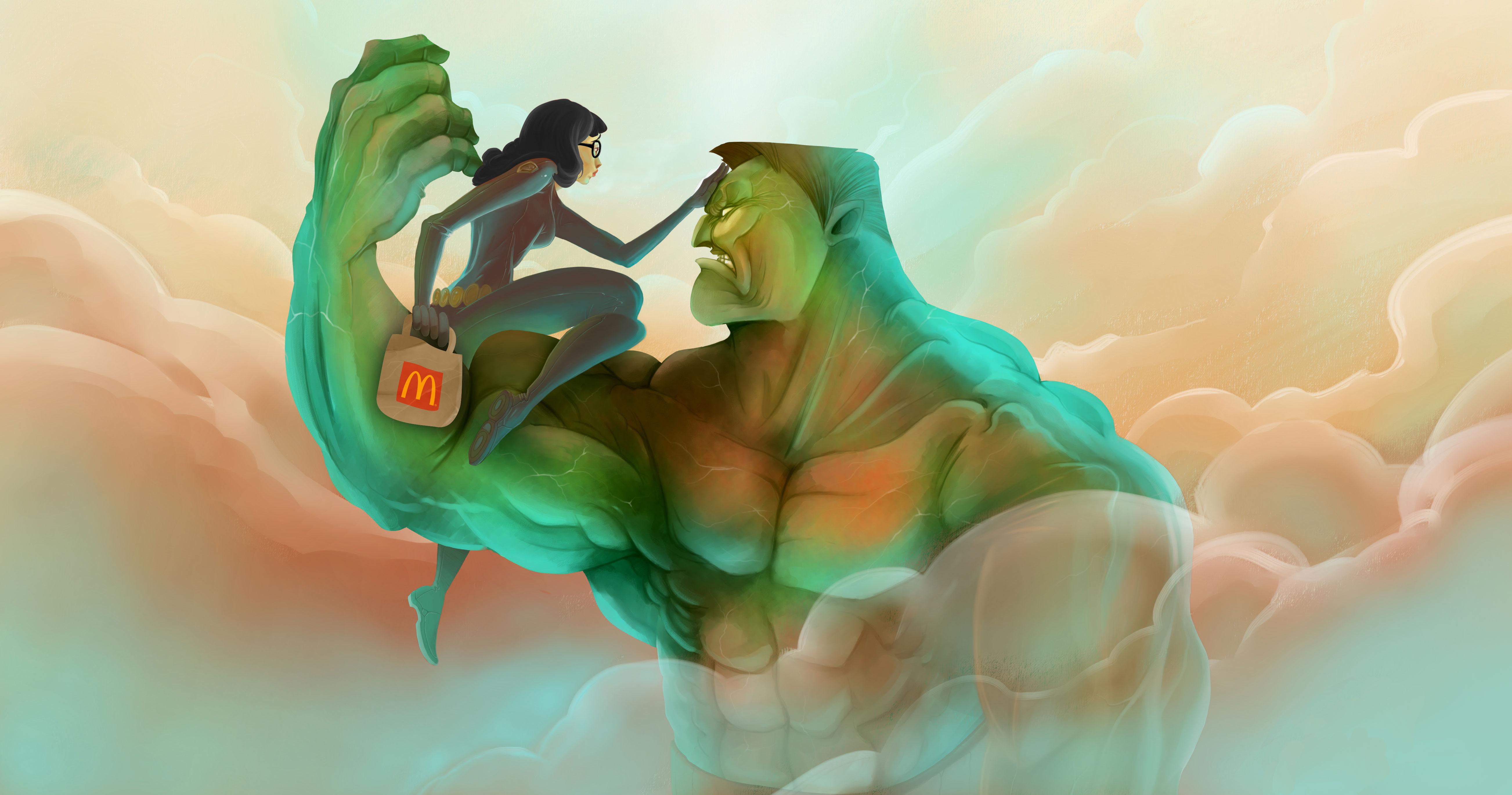 Hulk McDonald's