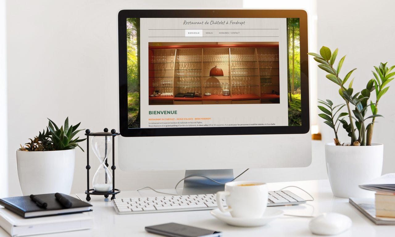 Site Internet Restaurant le Châtelet
