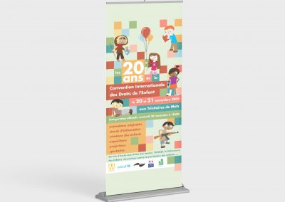 Roll Up Convention Internationale des Droits de l'Enfant
